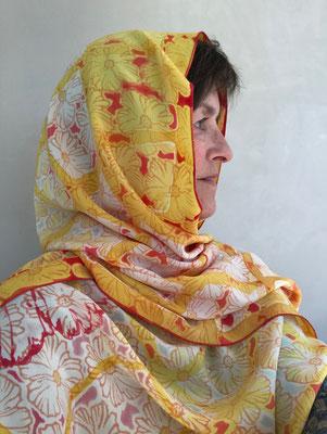 silk, art, scarf wraps, foulard, silksoul.ch, Marianne Iten Thürig, Switzerland