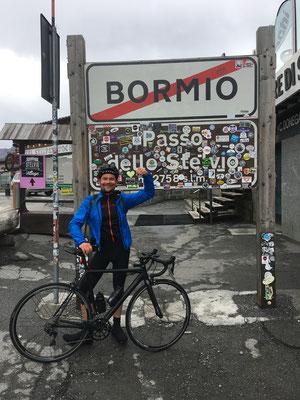 Mit dem Rennrad auf dem Stilfser Joch (2757 HM) - Italien   August 2021