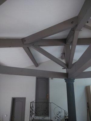 Peinture charpente et plafond rampant