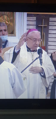 Schluss-Segen des Nuntius von BiH, Luigi Pezzuto