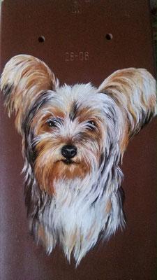 Hunde-Portrait auf Ziegel II