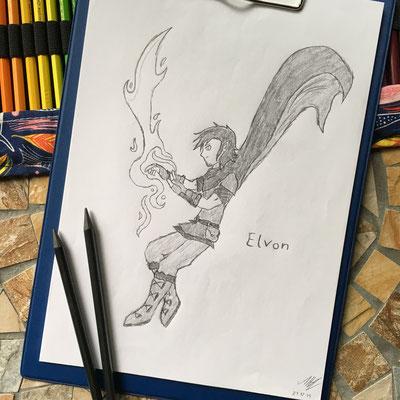 Zeichnung von Elvon