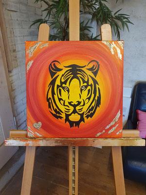 ~krafttier tiger~ 40cm x 40cm