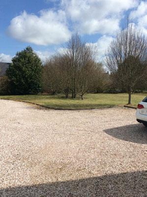 parking privé de la villa d'hôtes sur Saint Valéry sur somme quartier des Corderies Villa St Val