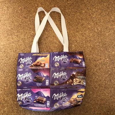 """Upcycling Tasche """"Milka 10€ anstatt 20€"""
