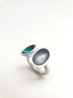 Ring Silber mit Emaille
