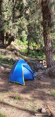 Zelten mitten im Nationalpark, ja, es war eng!