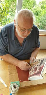 Toni Kurz, Buchbindearbeit