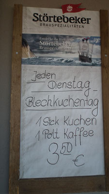 Angebot im Peenecafé