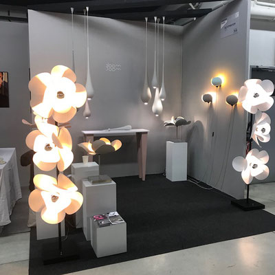 Bloomboom - lampe Drop, Drops, Lampe Fleur, Flowerlamp, made in France, artisanal, exposition, Design Fair Paris, interieor design, décor, luminaires, made in france, création François-Marie Gérard et Irma Birka