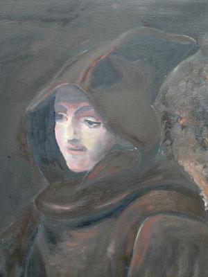 Kopie Rembrandt, olieverf, 40x50cm