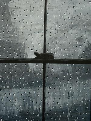 Regen, acryl, 80x100cm