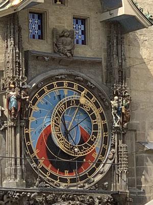 Altstädter Rathaus in Prag, astronomische Uhr