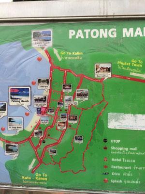 Plan von Patong