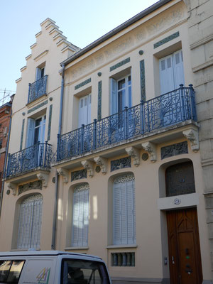 Rue Franc, 1910. Façade très soignée et en très bon état