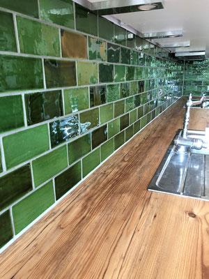 Küchenfliesenspiegel in Grün