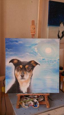 Luna - Göttin der Weisheit - 50x 50 cm Acryl auf Leinwand