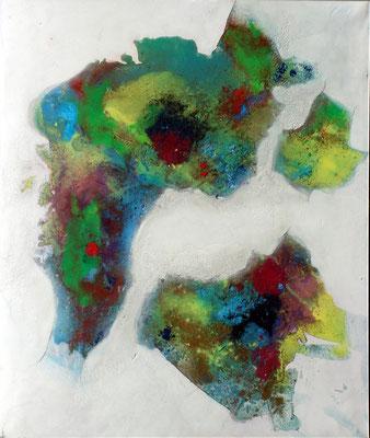 Sommerland, Acryl-Mischt. auf Lwd. 100 x 80,2006