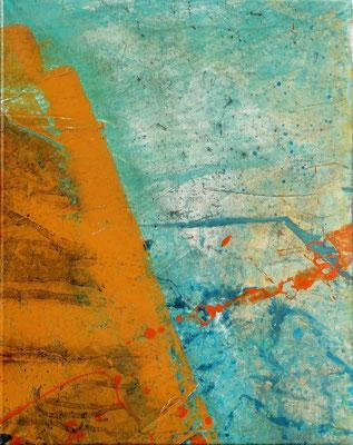 Sommerzeit 2,fünfteilig,Acryl auf Papier, auf Lwd. gezogen,36 x 48,2006