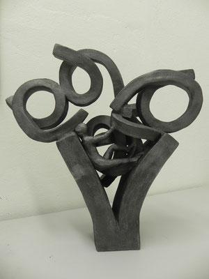 """Des ordres"" gris bronze 50 cm    250 euros"