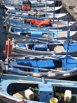 aufgereite Fischerboote