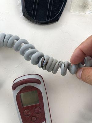 melted cable of anchor remote / geschmortes Kabel von Ankerfernbedienung