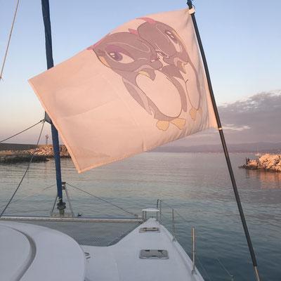 up up we go, Verlassen die Marina