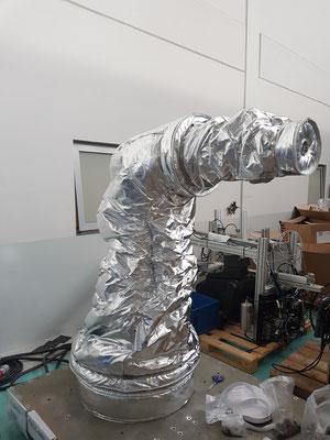 Housse de protection robot industriel yasakawa GP25 enceinte climatique -40 °C + 90 °C