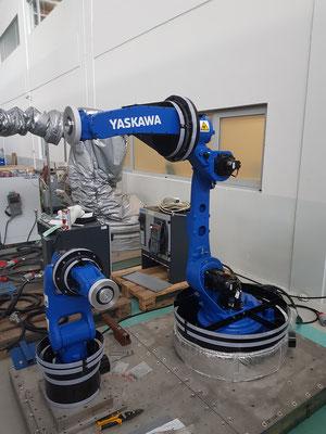 Housse de protection robot industriel yasakawa GP7 GP25 enceinte climatique -40 °C + 90 °C