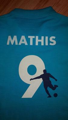 Polo-Shirt beflockt für Fußball-Fans