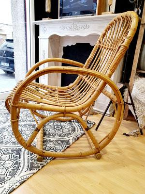 Butaca de bambú original de los años 70