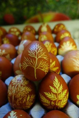 Jedes Ei ist ein eigense Kunststück.
