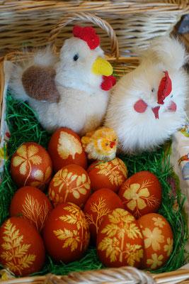Nun sind die Eier bereit zum Verkauf.