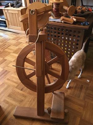 Mein erstes Spinnrad: Merino von Wollknoll.