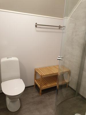 gemensam dusch och toa