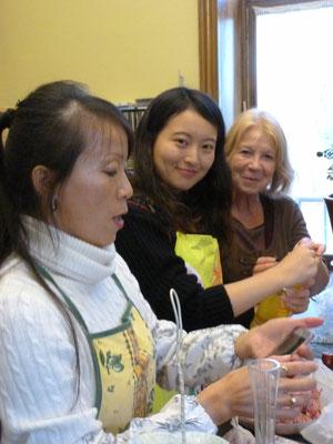 Pour digérer, tous les participants au repas ont été joués à la salle municipale d'ORLEAT, au mahjong bien sur.