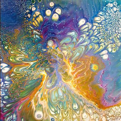 abstrakt - Acrylic Pouring 80x80 cm