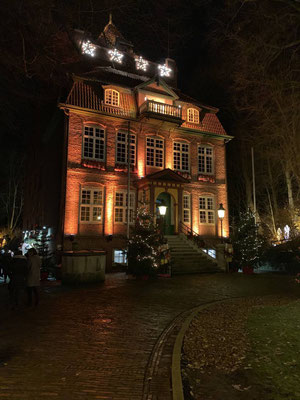Das Schloß Ritzebüttel im weihnachtlichen Ambiente
