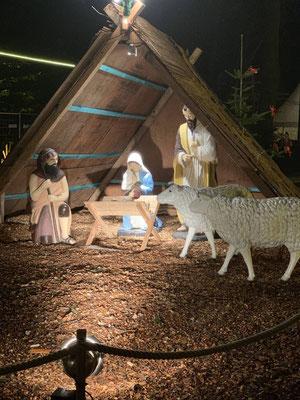Die Krippe auf dem Weihnachtsmarkt in Cuxhaven