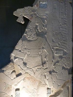 plaque gravée au musée de Palenque