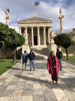 Die Akademie von Athen, was für ein fantastisches Gebäude.