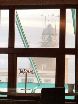 Ausblick auf den Leuchtturm.