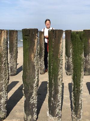 Gerd genießt den Strand, endlich richtig Sommer!
