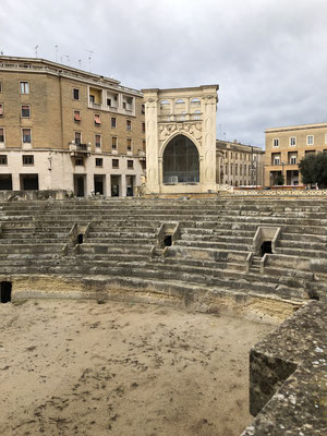 das Amphitheater in Lecce