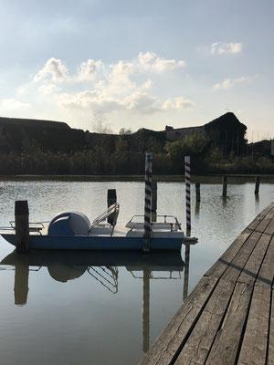 Unser wunderschöner Ausblick auf den Canal Bianco
