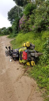 wipeout in Honduras, sprained my wrist