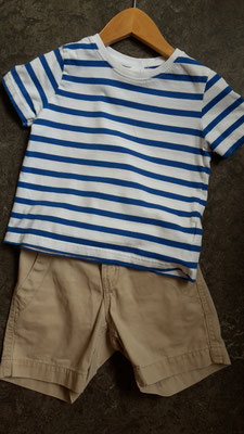shorts carter's 2J - 16,- + tshirt 6,-