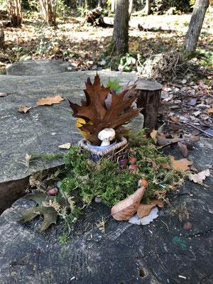 Herbstdeko Waldtagesfamilie