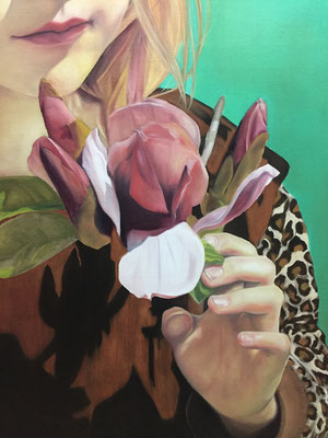 MAGNOLIA Detail · 2020 · oil on linen 160X120cm