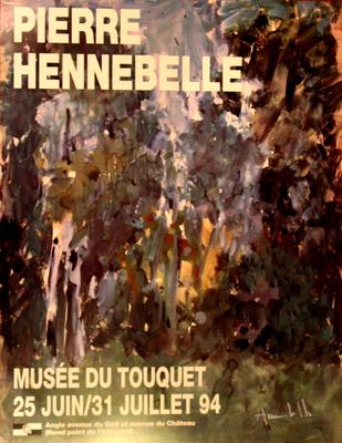 """Affiche """"Pierre Hennebelle"""""""